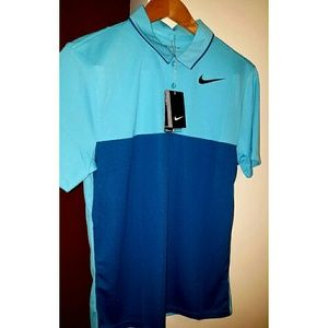Nike Golf Men's blue shirt Dri-Fit